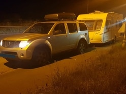Three in custody after stolen caravan recovered in Whitchurch