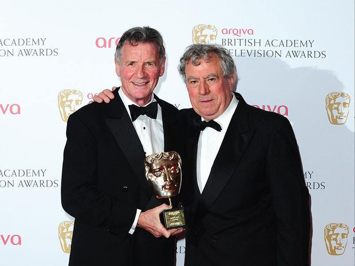 Terry Jones (right) with Michael Palin