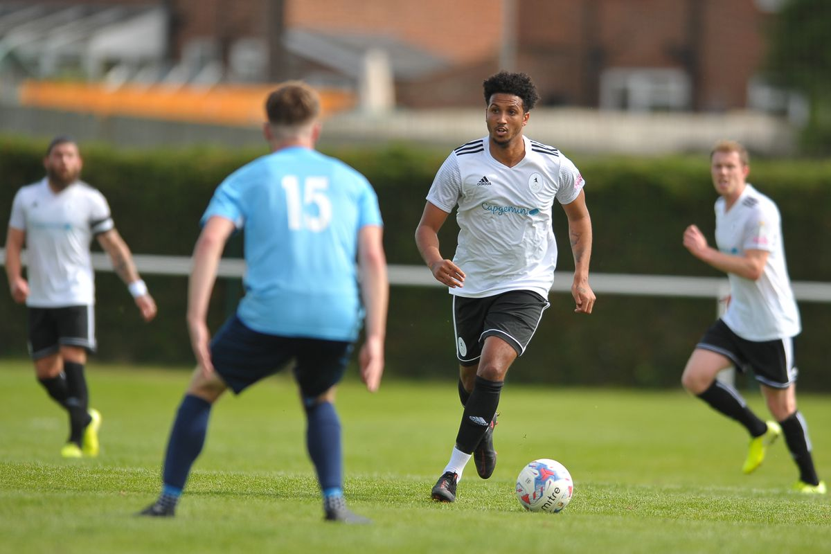 Trialist Dominic McHale during the pre-season friendly between Ellesmere Rangers and AFC Telford United at Beech Grove, Ellesmere on Saturday, September 5, 2020.....Picture: Mike Sheridan/Ultrapress