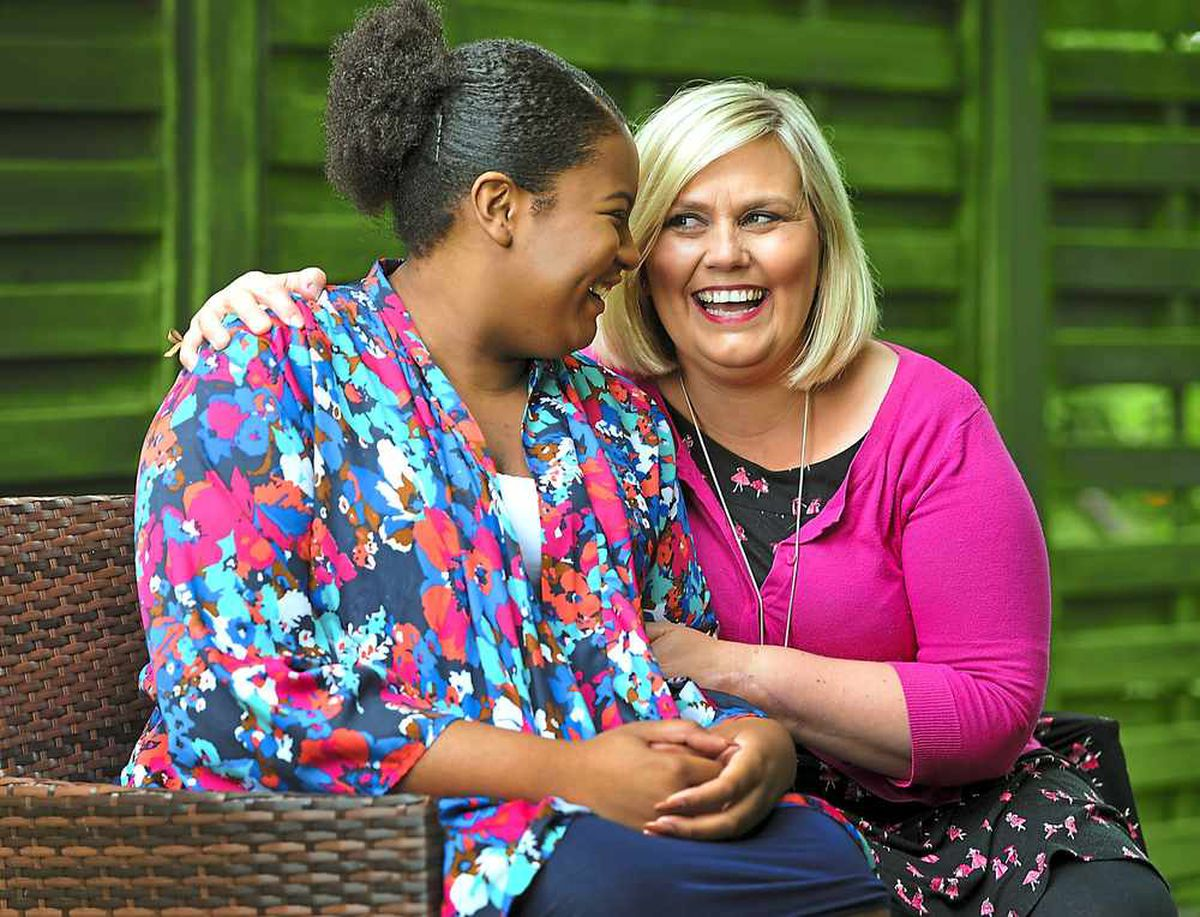Lisa with Francesca Quintyne 20 years after the horrific machete attack at St Luke's School in Wolverhampton