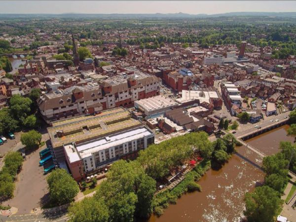 Shropshire Council wants money from the Government's levelling up fund to help pay for a major redesign of the Smithfield and Riverside areas of Shrewsbury.