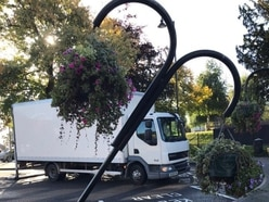 Hanging baskets knocked over in Wellington