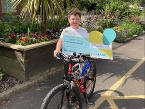 Drew Edwards raised £900 for Severn Hospice.