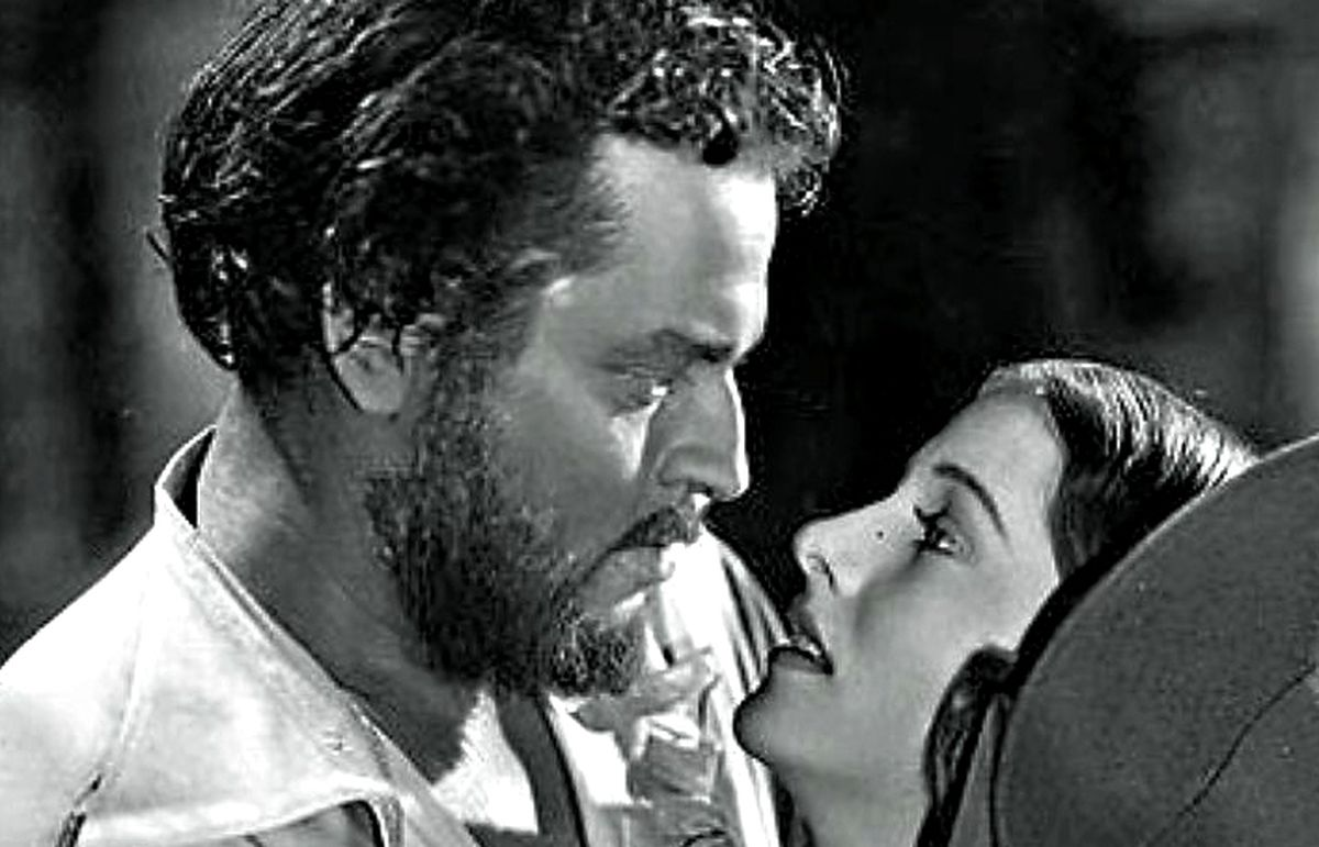 Orson Welles and Joan Fontaine in Jane Eyre.
