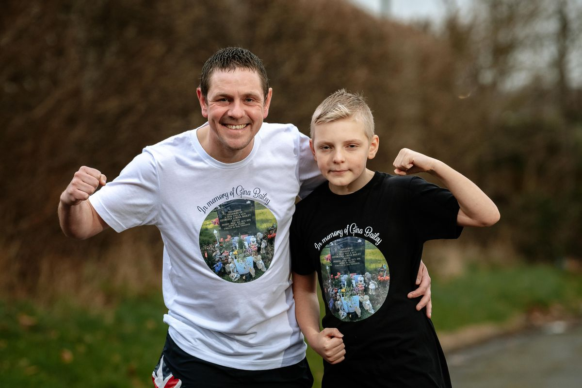 Geoff Bailey and his 10-year-old son Alfie