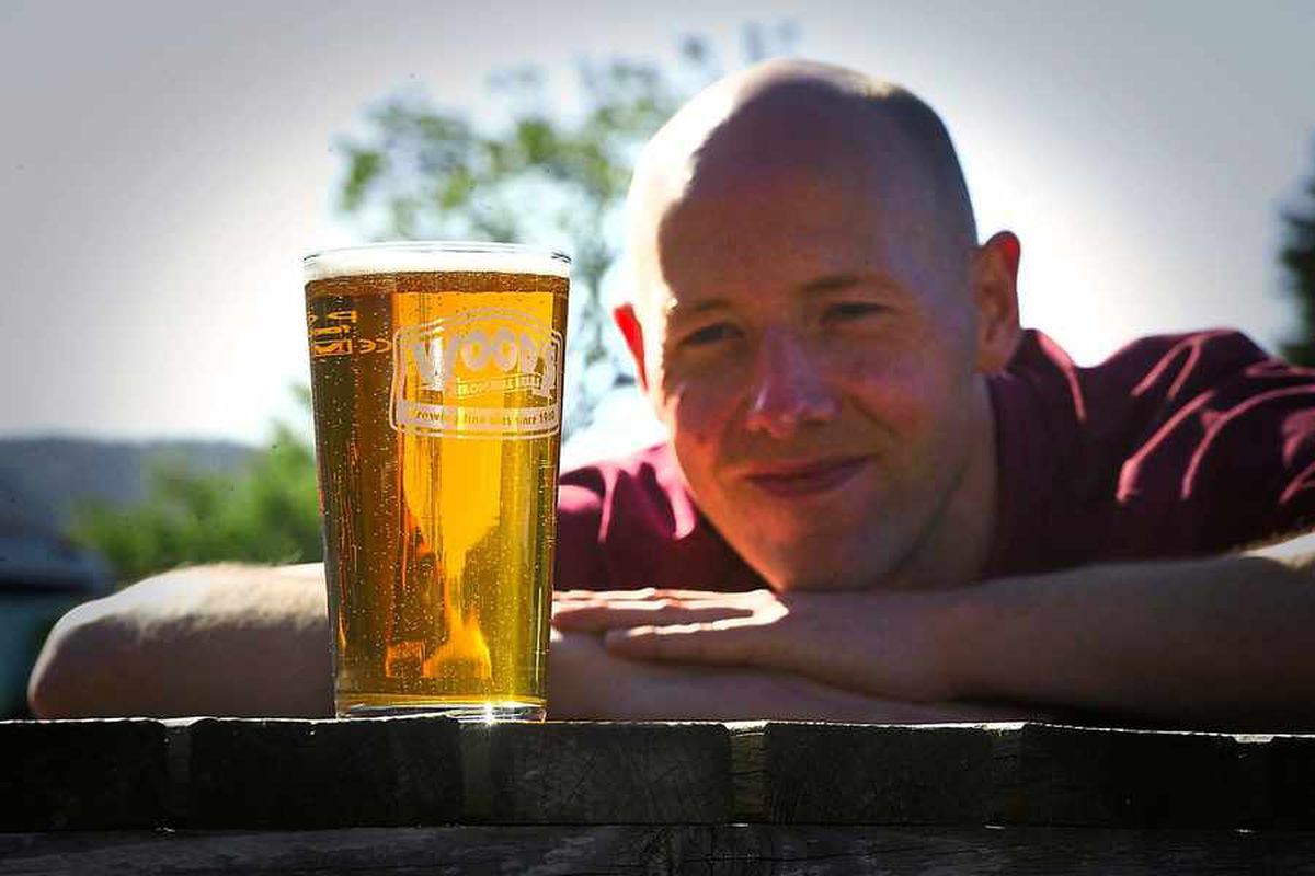 Andrew Pinnock, head brewer at Wood Brewery, Wistanstow, near Craven Arms