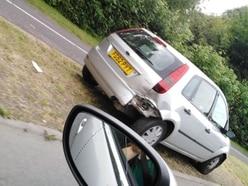 Woman injured in three-car Telford crash