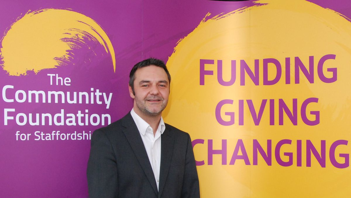 Steve Adams, chief executive of the Community Foundation, Staffordshire