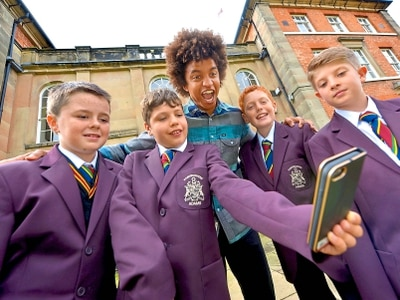 TV's Radzi drops in for a visit at former Newport school - with video