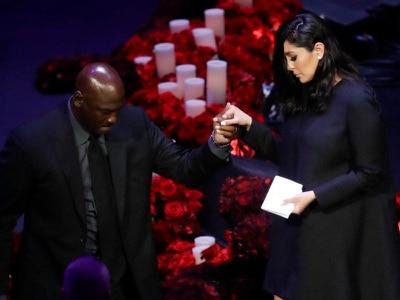 Los Angeles honours 'amazing' Kobe Bryant and daughter at public memorial
