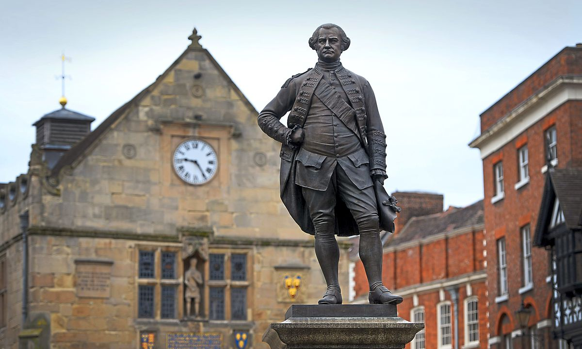 Robert Clive statue in the Square, Shrewsbury