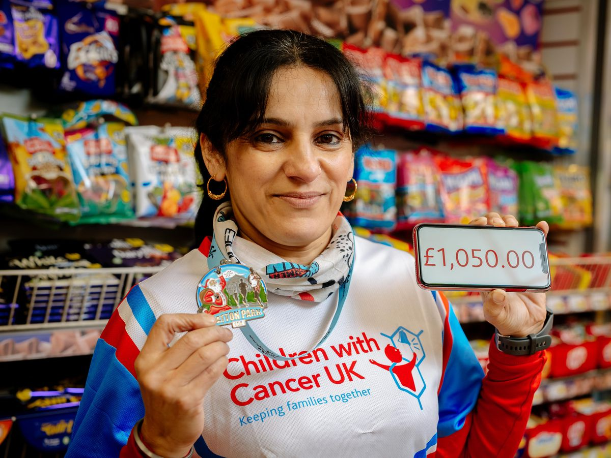 Julie Kaur Duhra has raised £5,000 for three charities. inclusing £1,050 for Children with Cancer UK