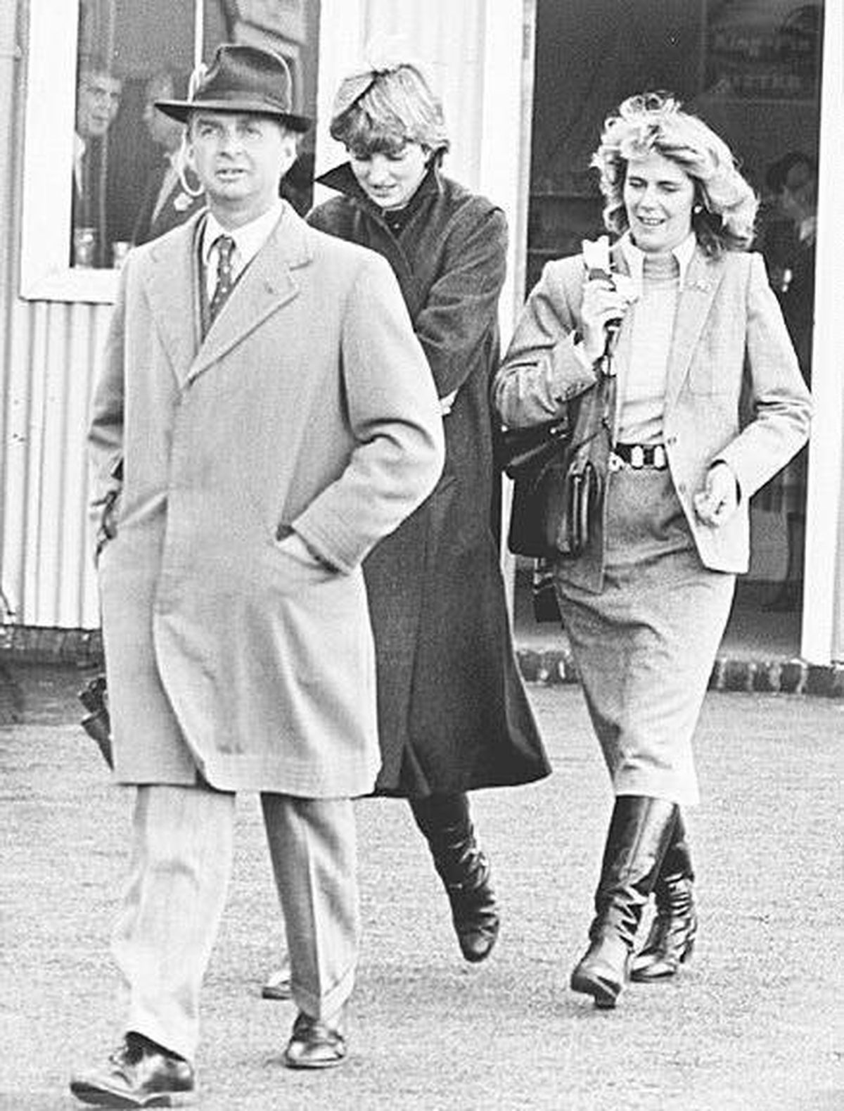 Lady Diana Spencer with Camilla Parker Bowles at Ludlow in 1980