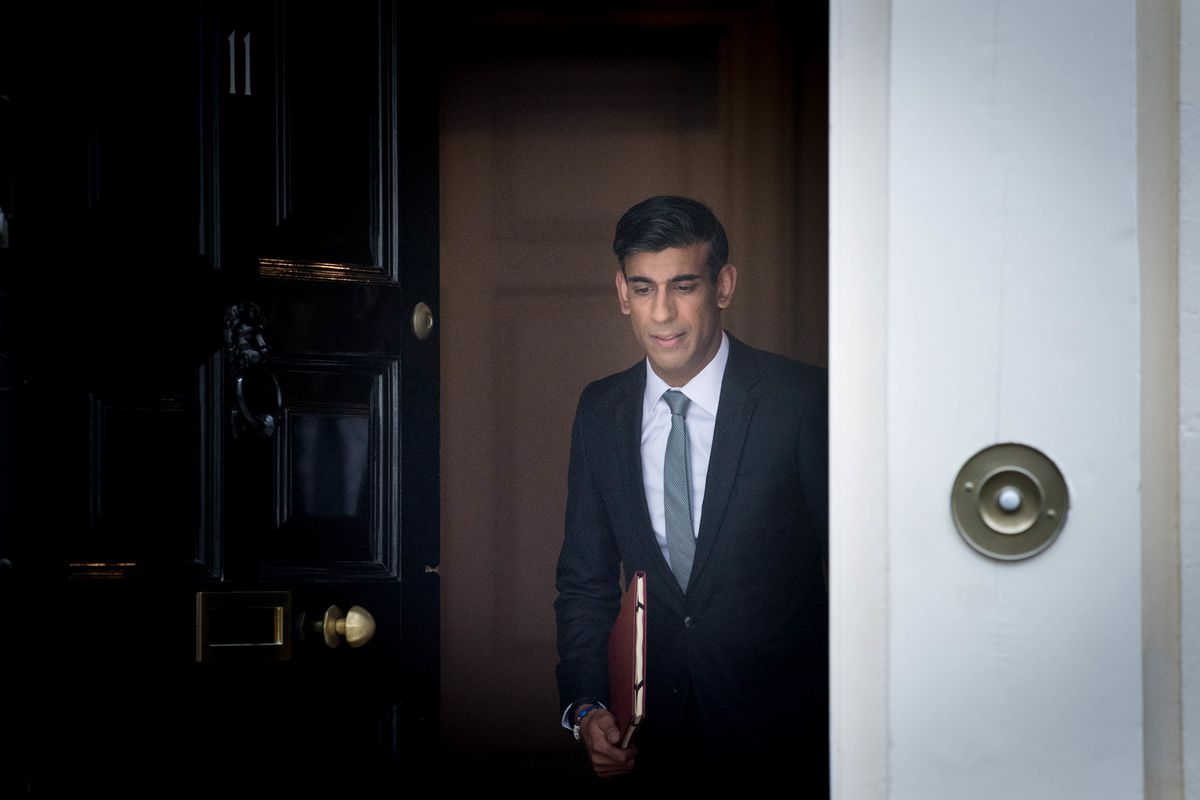 Chancellor of the Exchequer Rishi Sunak departs 11 Downing Street