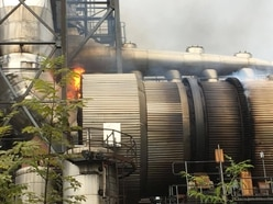 Firefighters tackle large blaze at Kronospan factory in Chirk - with video