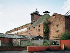 The scaffolding which had surrounded the pyramid-roofed Kiln at Shrewsbury Flaxmill Maltings since March 2019 has been removed