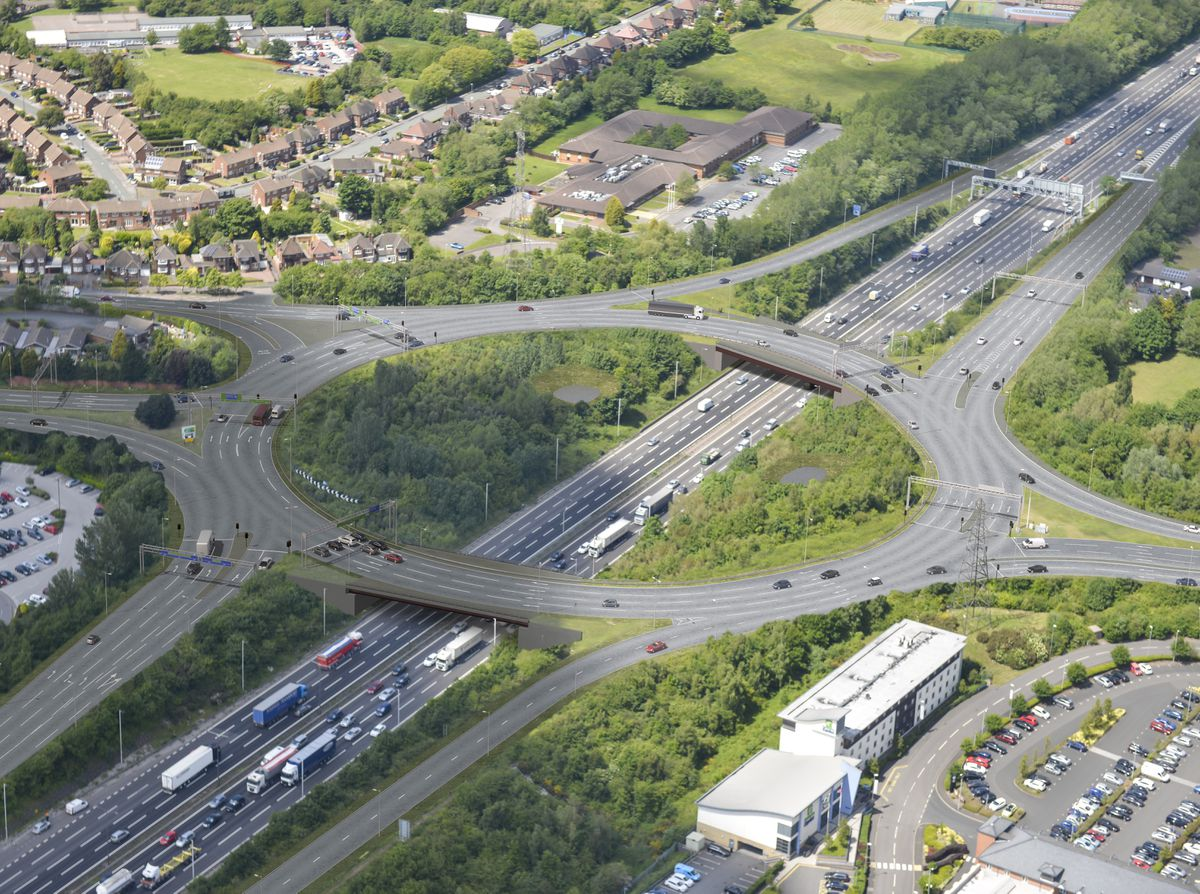 How the new roundabout will look when work is completed. Photo: Highways England