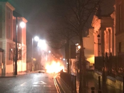 Suspected car bomb explodes in Londonderry