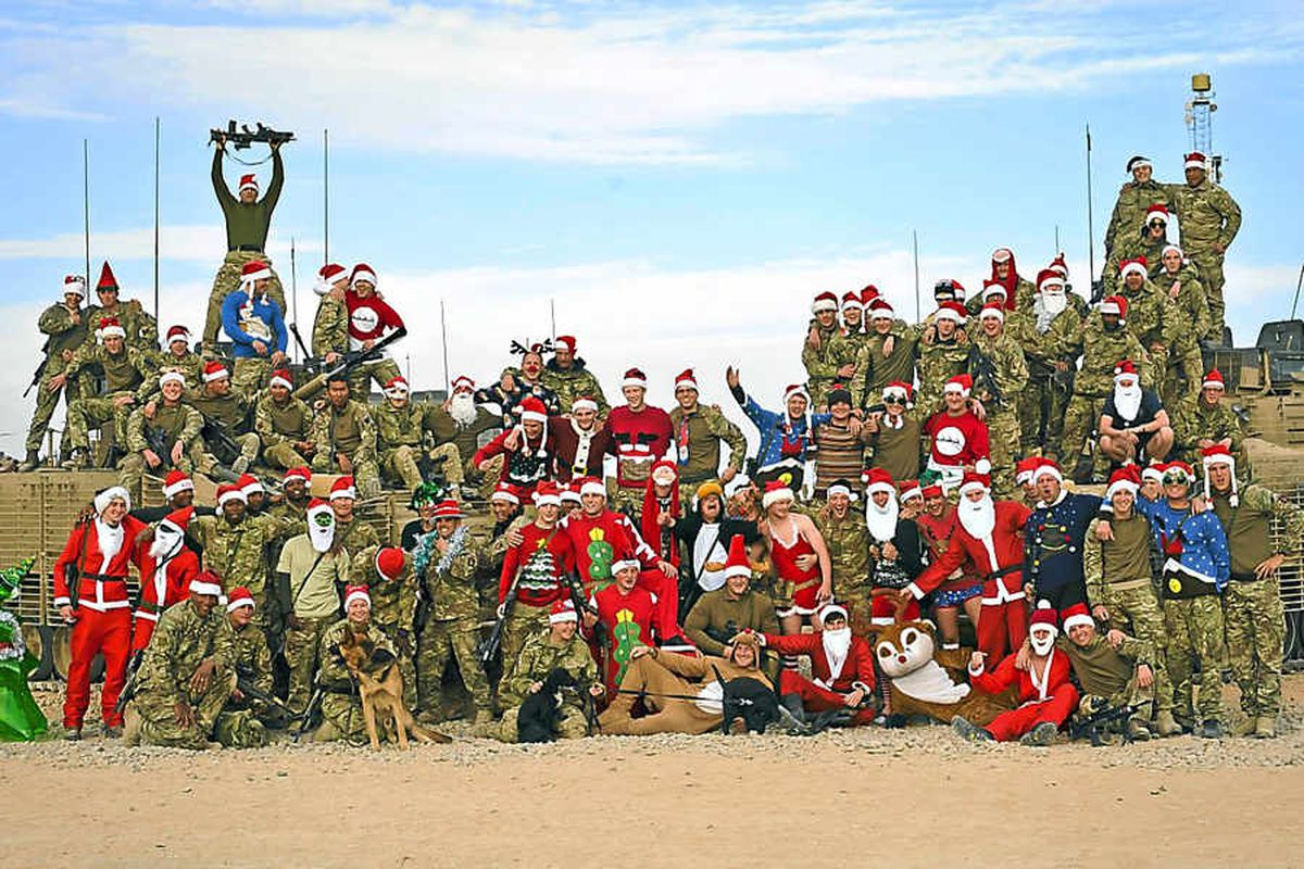 Soldiers based at Patrol Base Lash Durai, Afghanistan, get into the festive spirit as they prepare for their last Christmas on tour