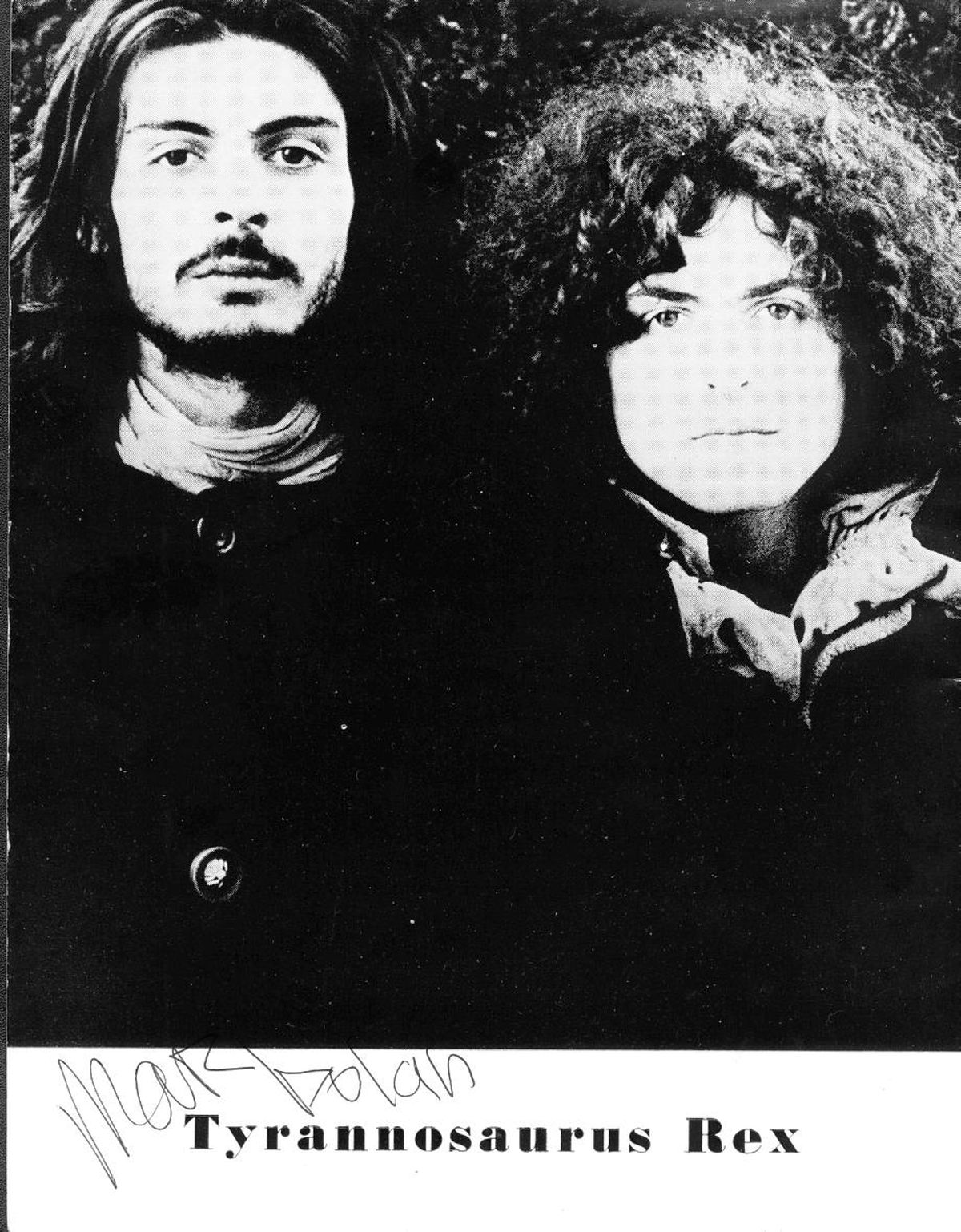 Took and Bolan on the cover of the programme for a concert at Dudley Castle in 1970
