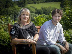 Caroline Franks with son Ollie, who survived a horrific head-on crash