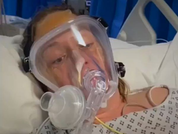 The video features an interview with HR assistant Allie Sherlock, who was in intensive care with Covid-19 (Image by West Midlands Ambulance Service)