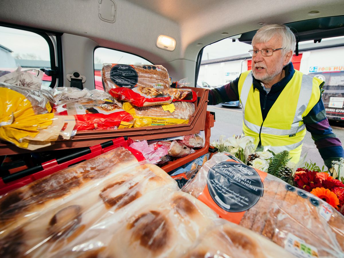 Volunteer Mike Haddaway, of Shrewsbury Food Hub, which has been given £10,000 in National Lottery funding