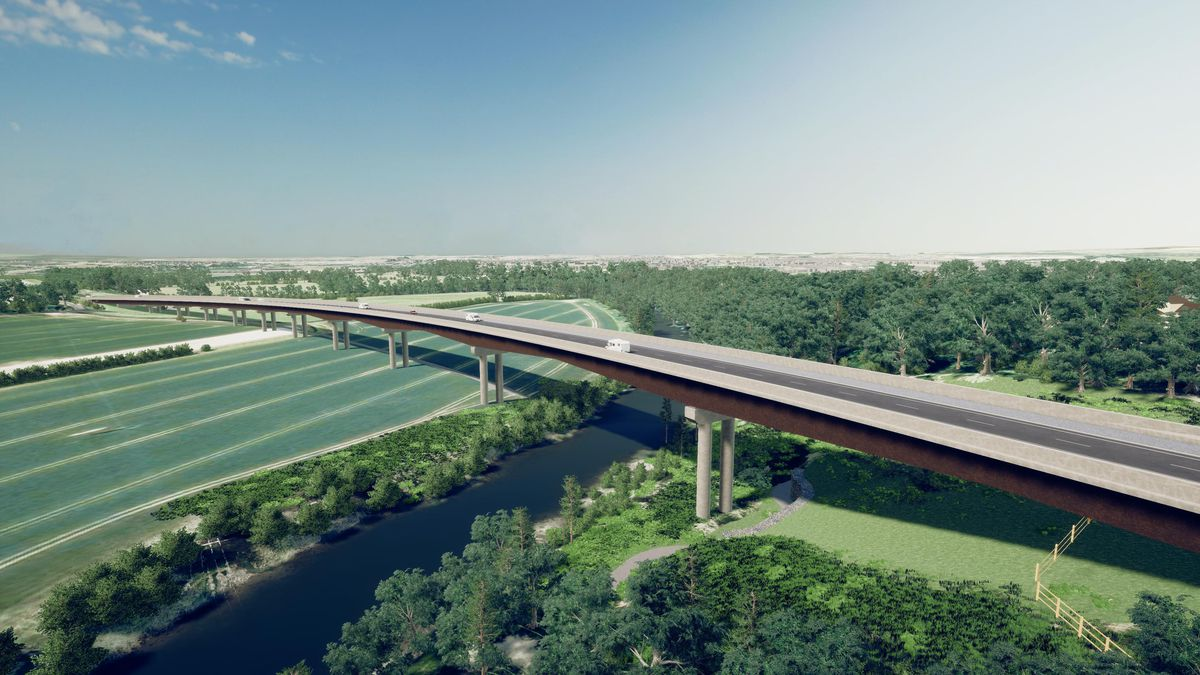How the newly included viaduct could look