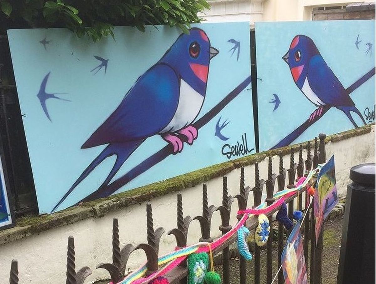 Swallow paintings by Matt Sewell have gone missing