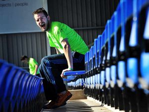 Max Ball in the race to sit on every one of the 9,875 seats at Shrewsbury's Greenhous Meadow stadium