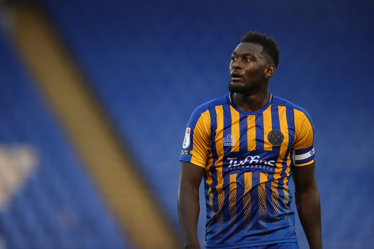 Aaron Pierre of Shrewsbury Town (AMA)