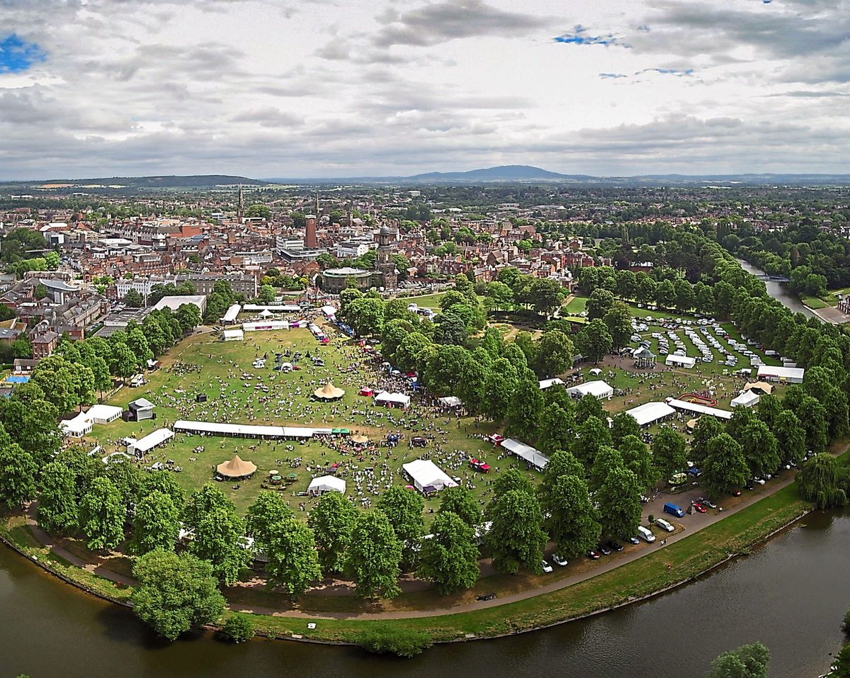 Popular events such as Shrewsbury Food Festival can be chronicled