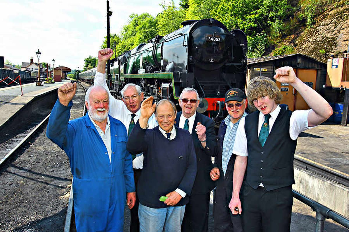 Staff at the Severn Valley Railway today