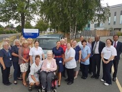 Audrey donates late husband's car to Oswestry spinal injuries centre