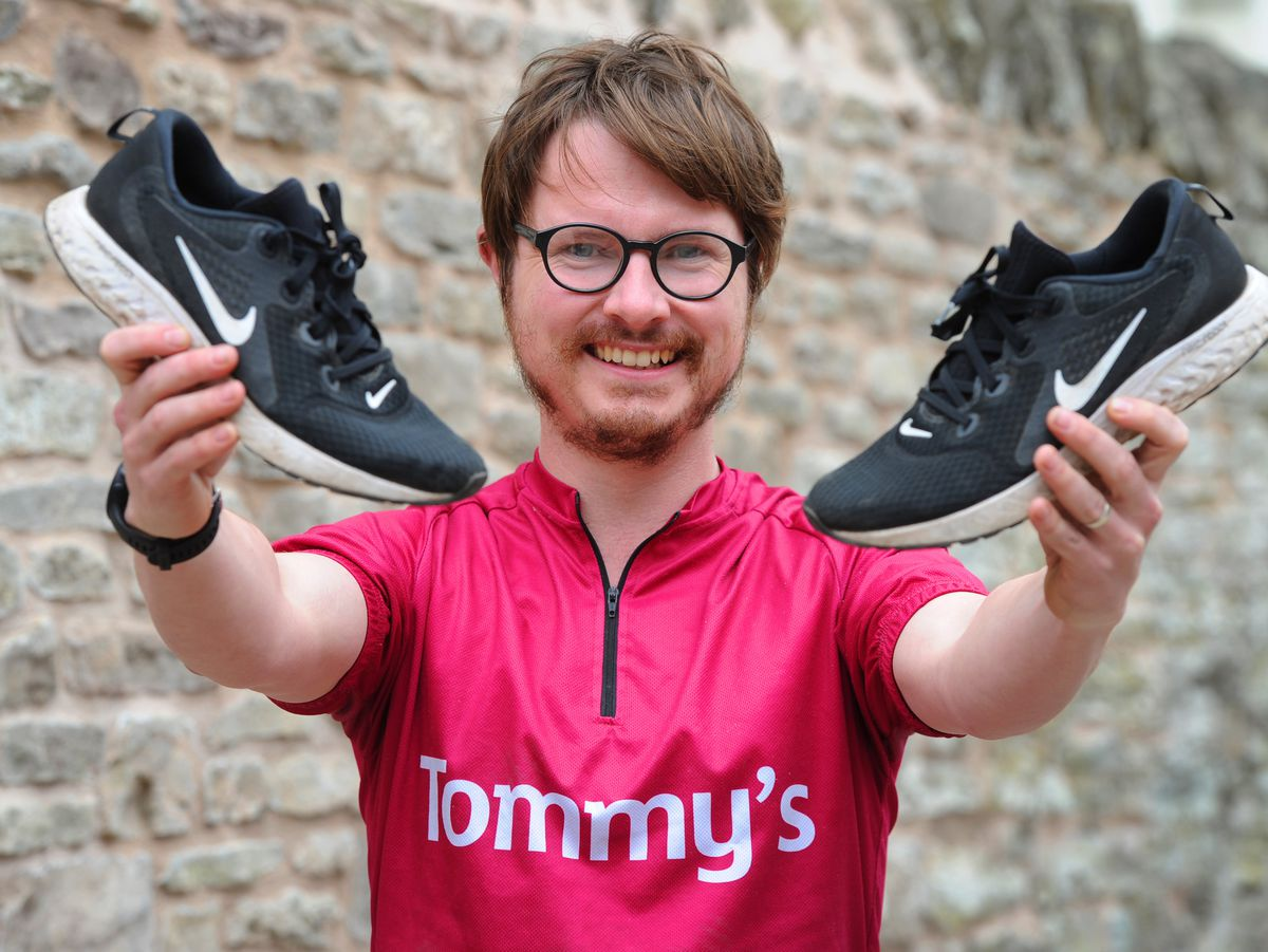 Owner of Busy Bodies Childcare Centre, Ludlow, James Boddey, gets ready to run 100K in May, to raise money and awareness of Tommy's charity