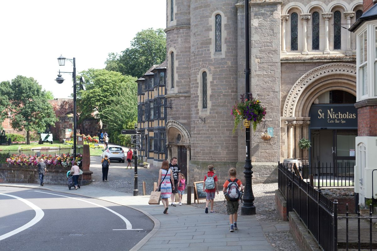 Castle Street is in parts very picturesque, including near Shrewsbury Castle