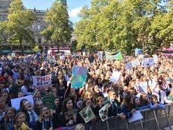 Thousands strike for climate change action in NI