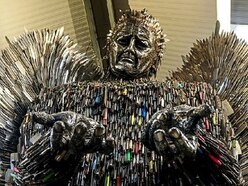 Shropshire Knife Angel: One in five blades contaminated with blood, says boss