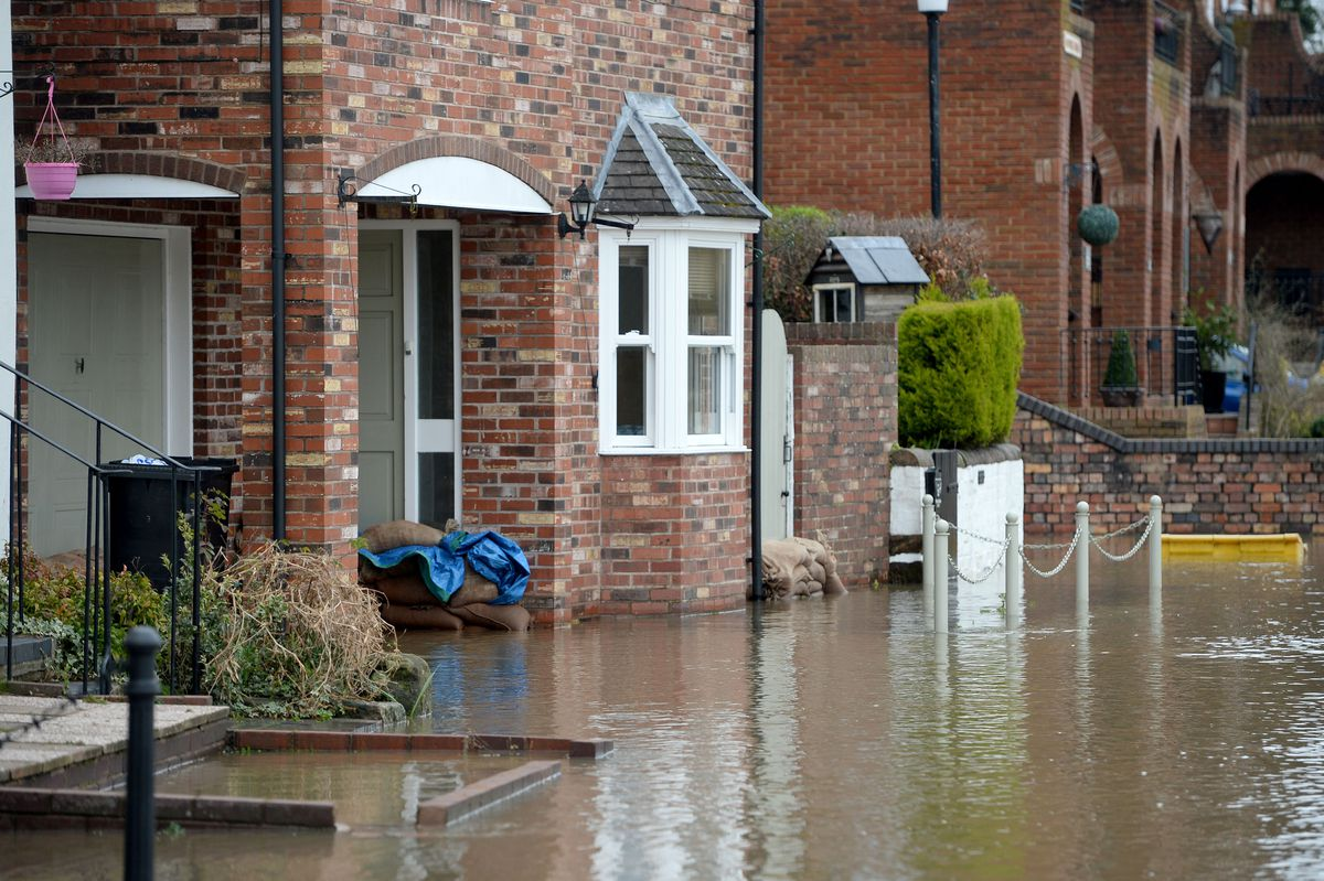 Flooding in Bridgnorth on Wednesday