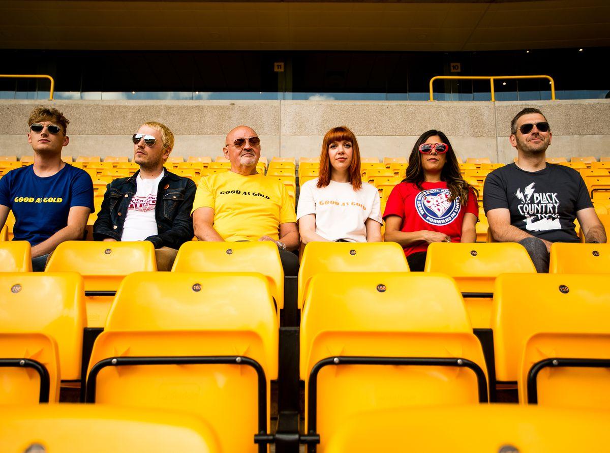 Jack Fletcher, Tim Baker, Bob Wiggin, Lindsay Baker, Ayesha Bal and Chris Baker at Molineux Credit: Brodie Weatherill