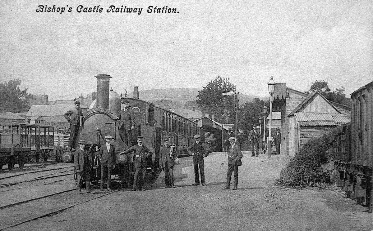 Bishop's Castle Railway Station – the railway was a financial disaster area
