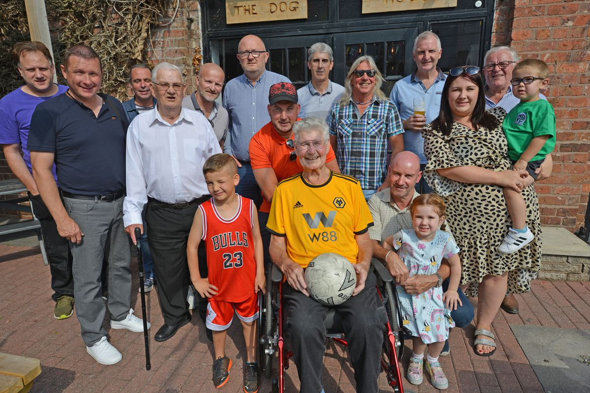 Bill Bowering, the founder of Nova United FC, with family and friends