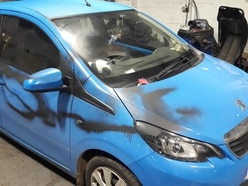 Charity shop volunteer's car vandalised in Craven Arms