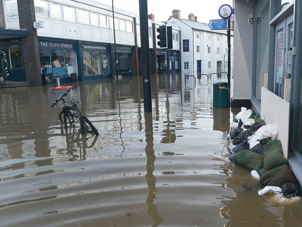 Floodng at Coleham, Shrewsbury. Photo: Julie Bull.
