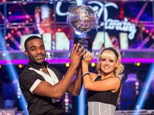 Joanne Clifton, pictured with Ore Oduba after winning Strictly, will be performing at Theatre Severn