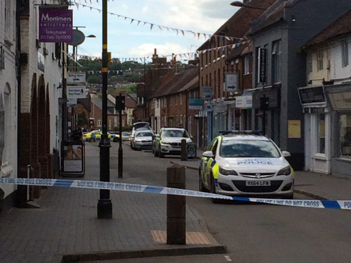 Picture of police in Bridgnorth. Picture: @RobinGreenwell1