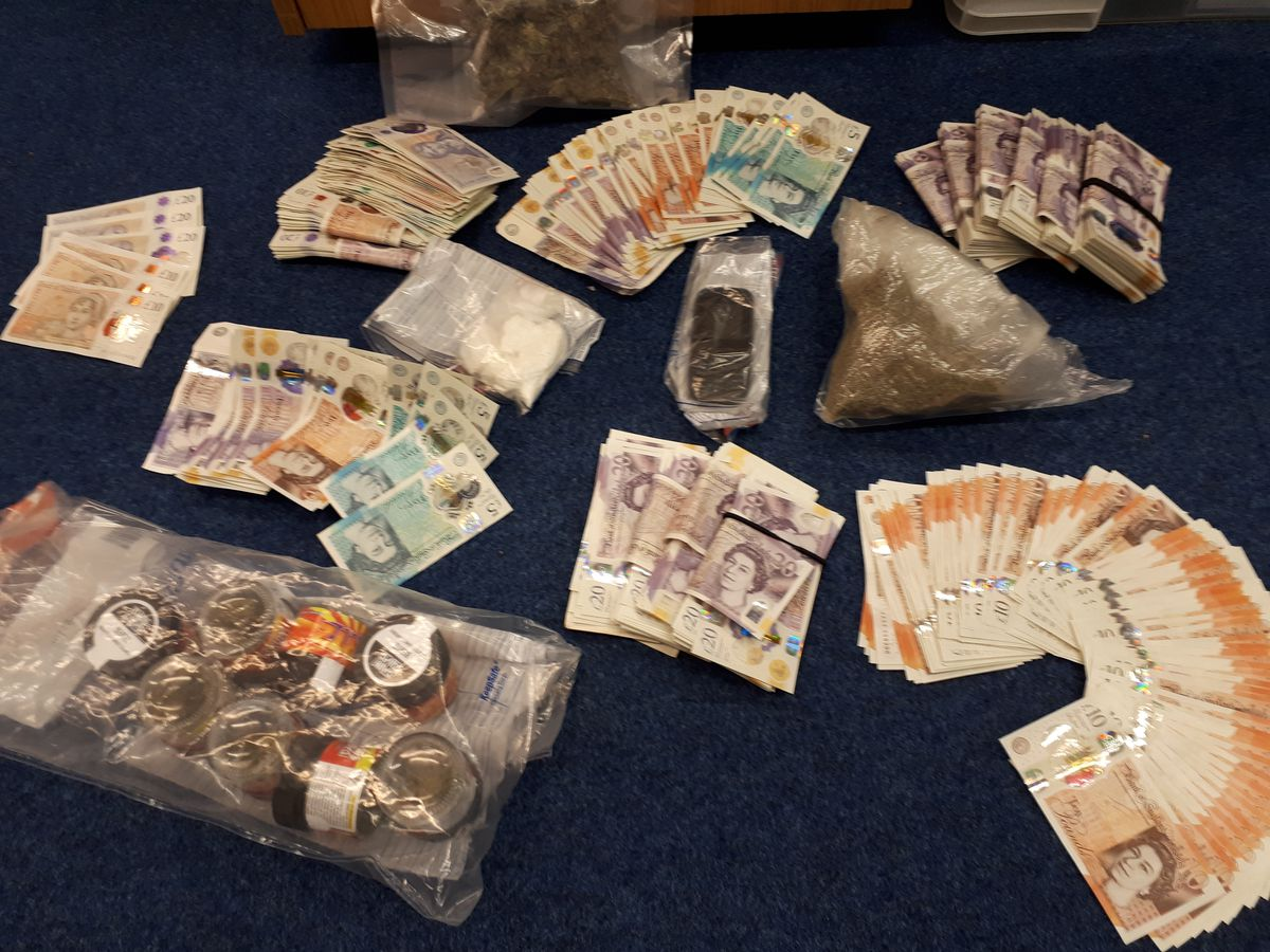 Drugs and cash seized in Porthill, Shrewsbury, by West Mercia Police