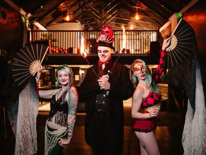 Pictured from left, Leo's Loco Circus - Corrie, Loco Leo and Topaz