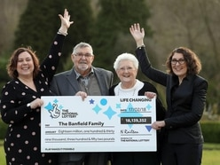 We played the lottery for our daughters, say couple who scooped £18m jackpot