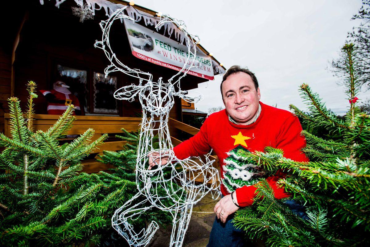 Steve Jones, from Winston Farm in a previous Christmas season